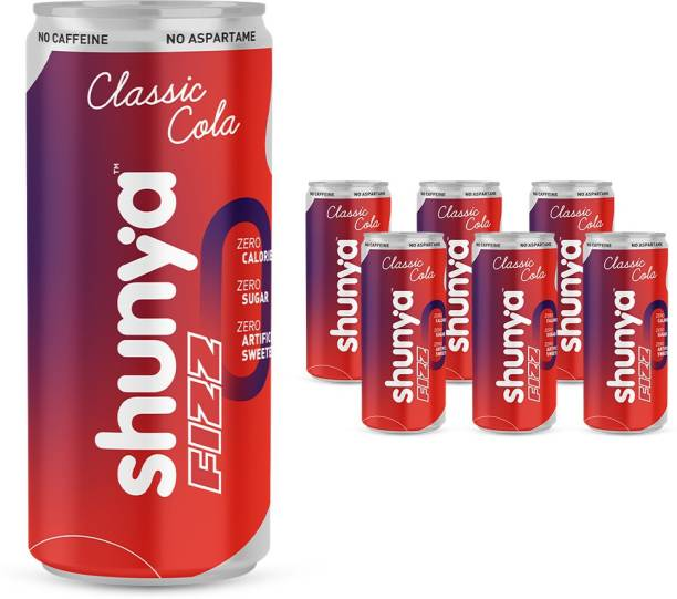 shunya Fizz Classic Cola | Guilt-free Soft Drink with 0 Calories, 0 Artificial Sweeteners Energy Drink