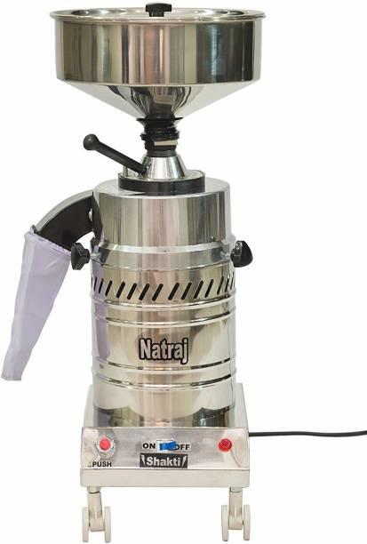 Natraj Aatamaker Shakti Stone Round Domestic Flourmill Aata Maker (Motor-1 HP, Silver) Flourmill
