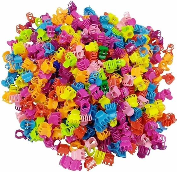 Ganapati Universal Co 1.5 cm Mini Hair Claw Clips Plastic Clip Claws Hair Clips Pins Clamps For Girl Teens Kids and Women Hair Accessories MultiColors 50 Pcs Mini Hair Accessories Hair Clip