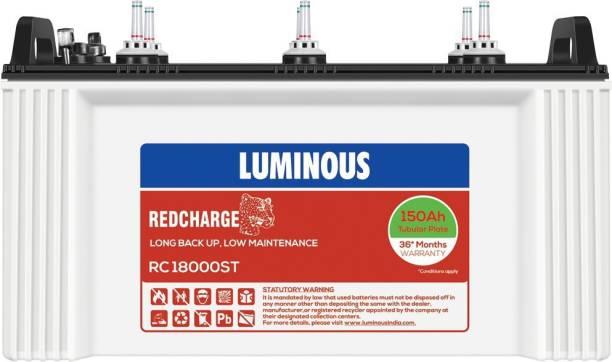 LUMINOUS RedCharge RC18000ST 150Ah Short Tubular Battery Tubular Inverter Battery