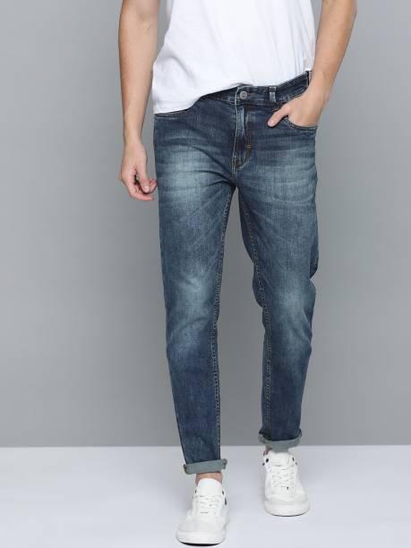 MAST & HARBOUR Slim Men Dark Blue Jeans