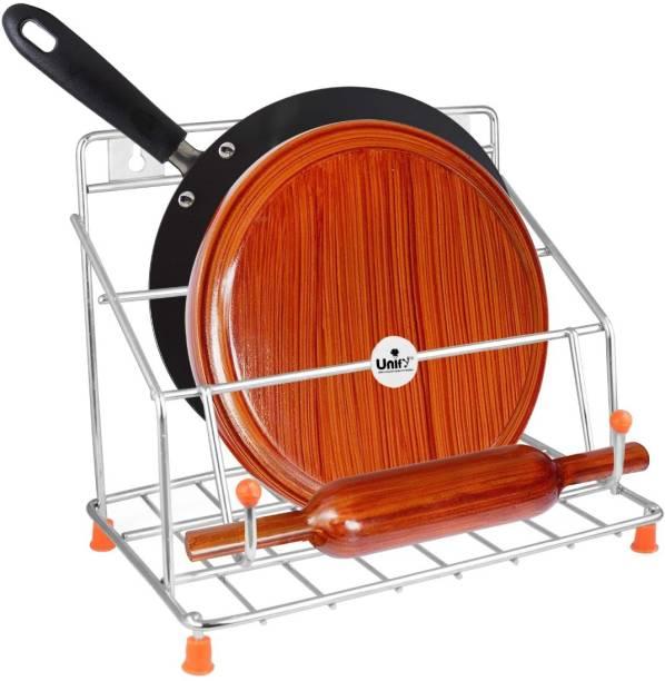 UNIFY Stainless Steel Chakla Belan Tawa Stand Chakla/Belan Kitchen Rack
