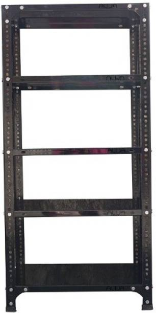 ALIJA Slotted Angle Metal Rack (4 x 2 x 1 Ft. / 48 x 24 x 12 Inch) with 5 Shelves Storage Rack unit (22 Gauge shelf 16 gauge angle) Luggage Rack