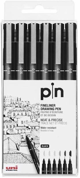 uni-ball PIN-200 0.05/0.03/0.1/0.3/0.5/0.8mm Fine Line Markers