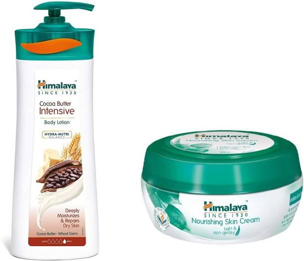 HIMALAYA Herbals Cocoa Butter Intensive Body Lotion 400ML,Nourshing cream 50ml combo