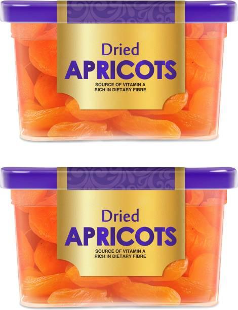 Manna Dried Apricots, 400g (200g x 2 Packs) - Premium Turkish Apricots/ Jumbo/ Seedless. 100% Natural. Rich in Iron, Fibre & Vitamins Apricots
