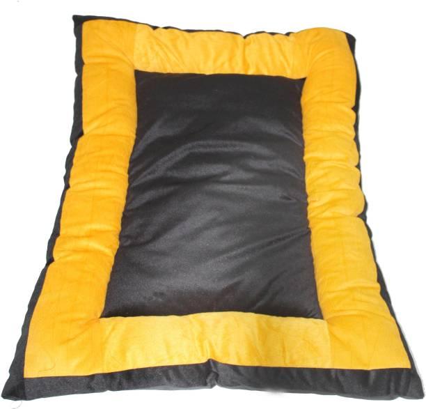 R.K Products NEW ART yellow_black_square_gaddi XXL Pet Bed