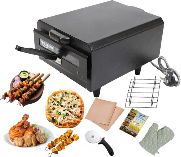 Wellberg Home & Kitchen 2000W Pizza Maker & Food Warmer Electric tandoor (Black) 1 Year warrenty for Heating Element Pizza Maker