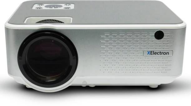 XElectron C9 Real HD 720p (1080p Support) | 3800 Lumen (380 ANSI) with 180 inch (4.6 m) Large Display LED Projector | VGA , AV, HDMI , SD Card , USB, Audio Out Connectivity | 2021 Release Portable Projector