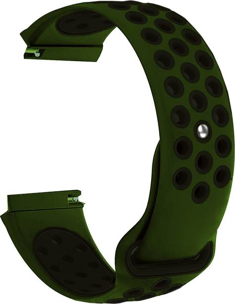 ACM WSM1D20GRB1904F Watch Strap Silicone Belt 20mm for Motorola Moto 360 (3rd Gen) ( Smartwatch Sports Dot Band Olive Green with Black) Smart Watch Strap