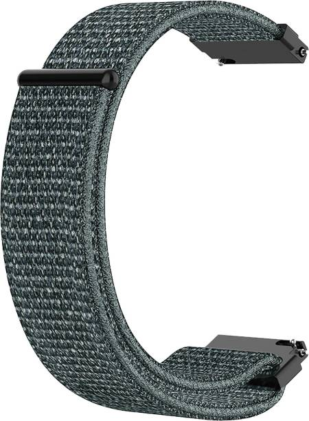 ACM WSM3V20GY1904F Watch Strap Nylon Soft Loop 20mm for Motorola Moto 360 (3rd Gen) ( Smartwatch Sports Band Grey) Smart Watch Strap