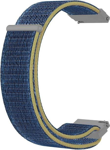ACM WSM3V20BL1904F Watch Strap Nylon Soft Loop 20mm for Motorola Moto 360 (3rd Gen) ( Smartwatch Sports Band Blue) Smart Watch Strap