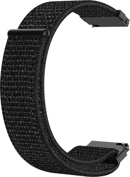ACM Watch Strap Nylon Soft Loop 22mm forMobvoi Ticwatch Pro 2020 ( Smartwatch Sports Band Black) Smart Watch Strap