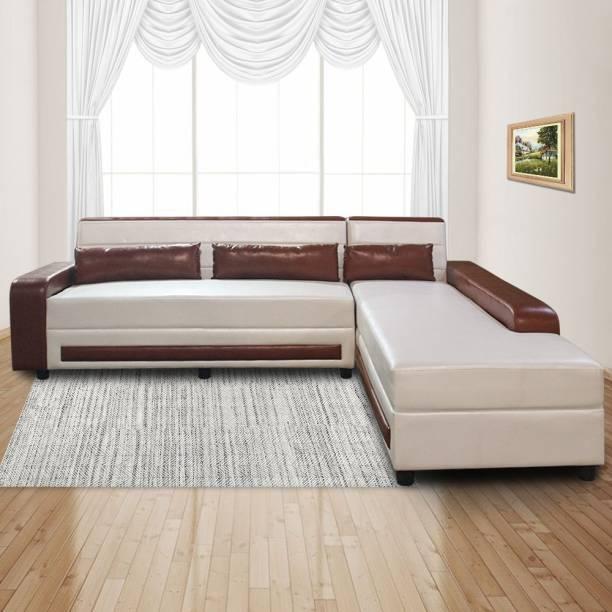 ELTOP Lifestyle Rolex L-Shape Leatherette 6 Seater  Sofa
