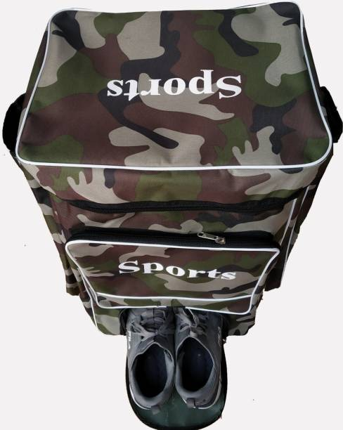 Star House Cricket Kit Bag Sports With Heavy Padded Smooth Zipper (ARMY PRINT)