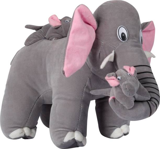 Ms Aradhyatoys mother elephant teddy bear soft toy 38-cm  - 38 cm