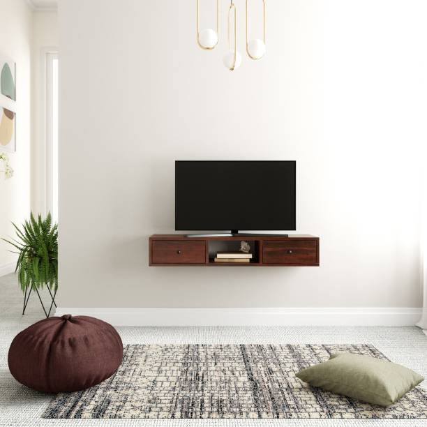 Flipkart Perfect Homes PureWood Mango TV Entertainment Unit