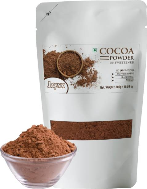 Jay Nx Unsweetened & Natural 300g Cocoa Powder for Making Chocolate Cake, Cookies, Chocolate Bread, Shake, Brownies, Chocolate Desserts   Vegan, Keto & Gluten Free With Zipper Pouch Pack Cocoa Powder