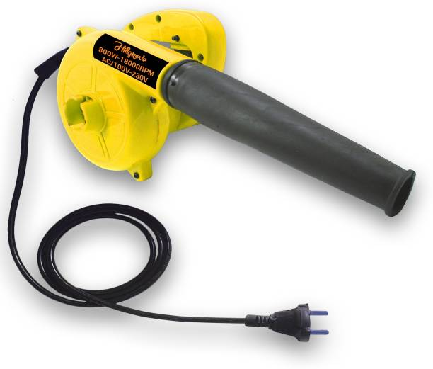 Hillgrove Yellow 800W-18000RPM Electric Air Blower and Suction Dust Cleaner for AC/Computer/Home with Air Blower Machine Gun Dust Cleaning Forward Curved Air Blower