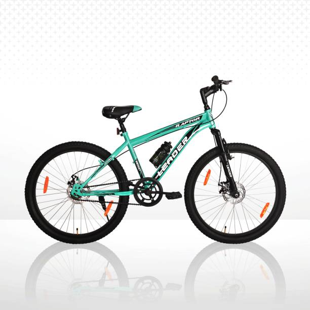 LEADER Raptor 26T with Front Suspension and Dual Disc Brake MTB Single Speed 26 T Mountain Cycle