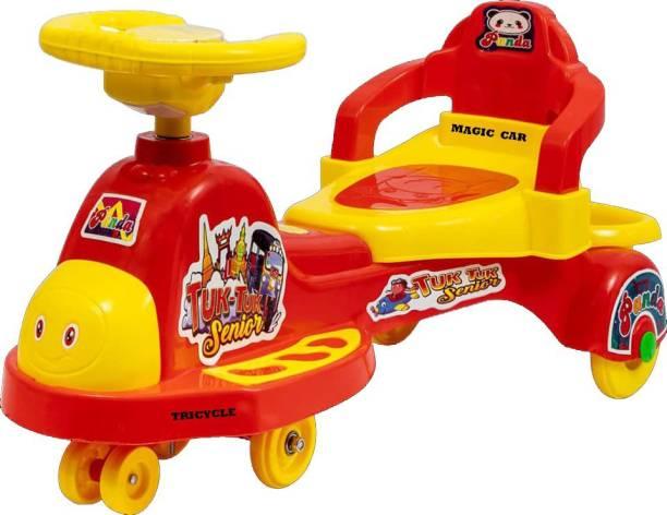 Pandaoriginals TUK TUK SR RED BEST SELLER Rideons & Wagons Non Battery Operated Ride On
