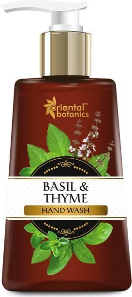 Oriental Botanics Basil & Thyme Hand Wash, Hand Wash Pump Dispenser