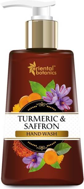Oriental Botanics Turmeric & Saffron Hand Wash, Hand Wash Pump Dispenser