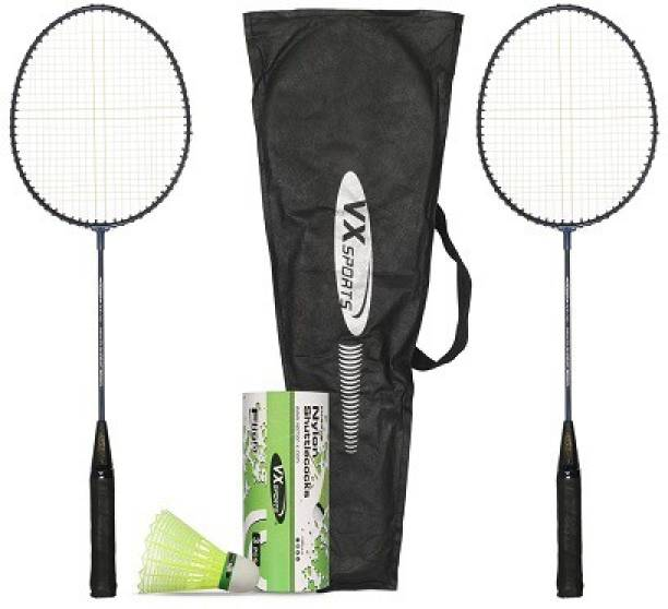 VECTOR X VXB-10 Racquets and Flight Shuttle Badminton Kit