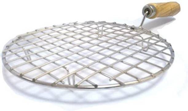 ANIAN Stainless Steel Roaster Chapati Grill Jali Roti Roast Grill Papad Wooden Handle Multi-Purpose Roaster(Barbeque Jali) With Tong (Chimta) 2 kg Roaster Stainless Steel Roaster Chapati Grill Jali Roti Roast Grill Papad Wooden Handle Multi-Purpose Roaster(Barbeque Jali) With Tong (Chimta) 2 kg Roaster Kitchen Tool Set