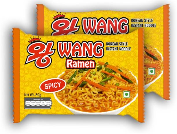 Wang Ramen Korean Style Instant Noodle (Pack Of 30) (30X80gm) Instant Noodles Vegetarian