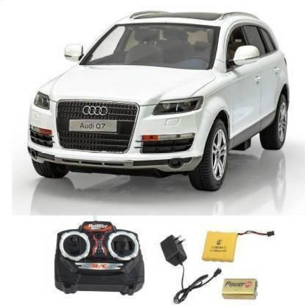 alakh Remote Control Audi Q7 RC Toy Car (White)