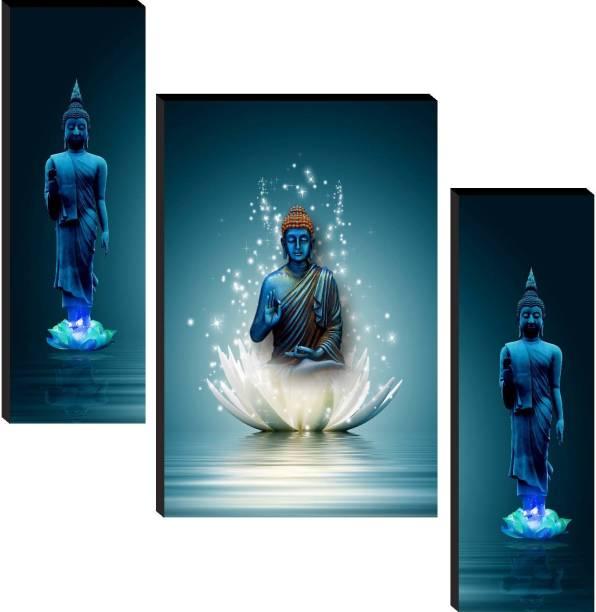 SAF Buddha Set of 3 Digital Reprint 12 inch x 18 inch Painting