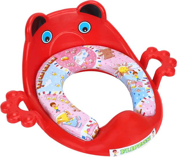 Flipzon Baby Cushioned Potty Seat, Toilet Comfortable Seat with Handle Potty Seat