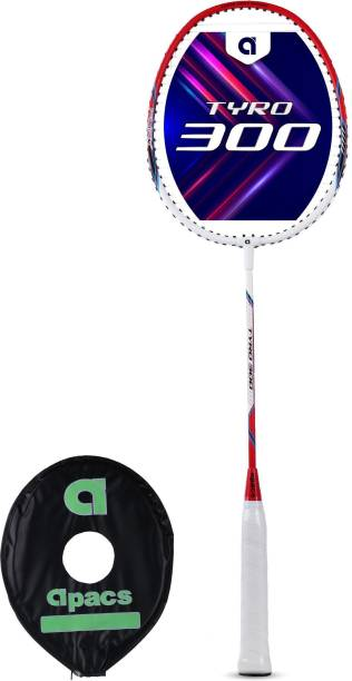 apacs Tyro 300 White, Red Strung Badminton Racquet