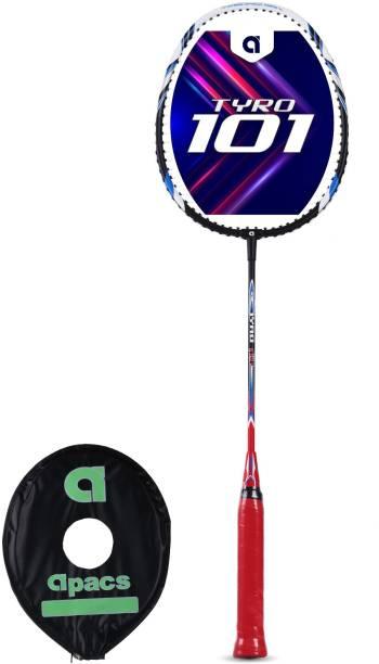apacs Tyro 101 Black, White Strung Badminton Racquet