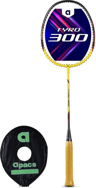apacs Tyro 300 Yellow, Grey Strung Badminton Racquet