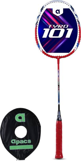 apacs Tyro 101 Red, White Strung Badminton Racquet