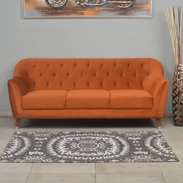 @Home by nilkamal Jennifer Fabric 3 Seater  Sofa