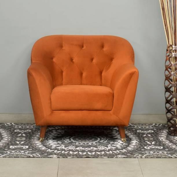@Home by nilkamal Jennifer Fabric 1 Seater  Sofa