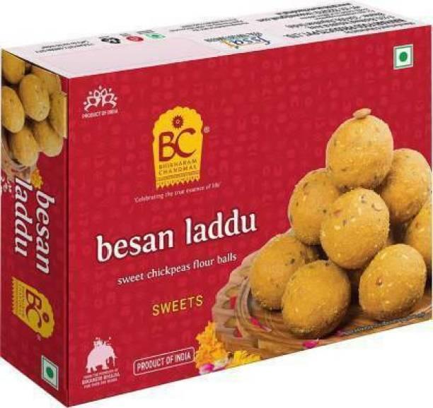 BHIKHARAM CHANDMAL Besan Laddu 425g - Pack of 1 Box