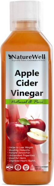 Naturewell Organic Apple Cider Vinegar - with strand of mother, not from concentrate Vinegar (500Ml) Vinegar