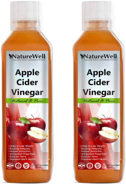Naturewell Organic Apple Cider Vinegar - with strand of mother, not from concentrate Vinegar (500X2 /Ml) Vinegar