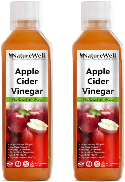Naturewell Apple Cider Vinegar For Weight Loss With Mother Of Vinegar Vinegar (500MLX2 /RE) Vinegar
