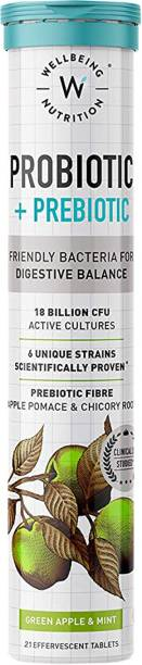 Wellbeing Nutrition Probiotic + Prebiotic|36 Billion CFU for Digestion,Acidity,Gut Health - Pack of 1