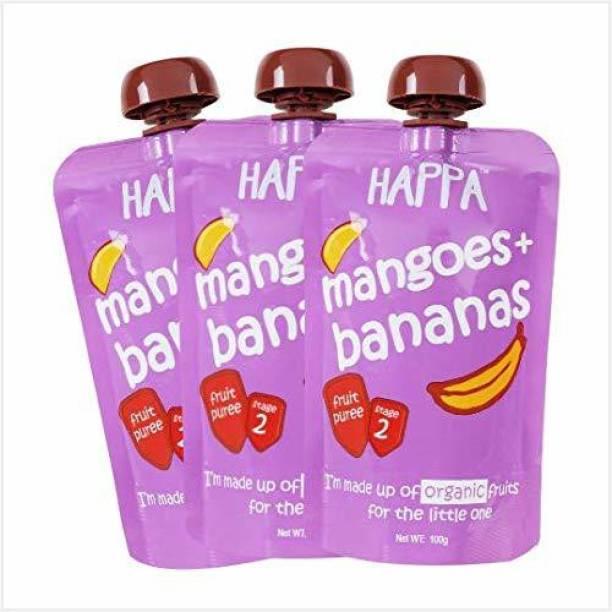 Happa Organic Mango&Banana Fruit Puree Cereal