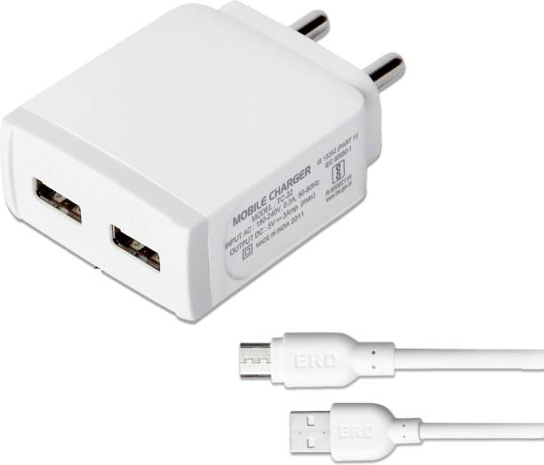 ERD TC-32_MICROUSB 18 W 3 A Multiport Mobile Charger with Detachable Cable