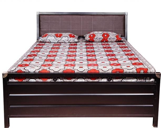 ROYAL METAL FURNITURE (5 Inch Mattress) Metal Queen Hydraulic, Box Bed