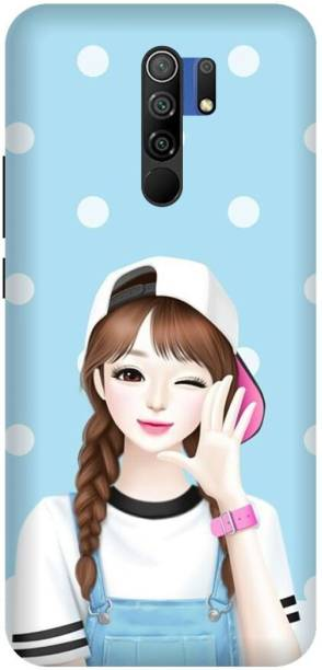 MD CASES ZONE Back Cover for Redmi 9 Prime Girl Cute Printed back cover