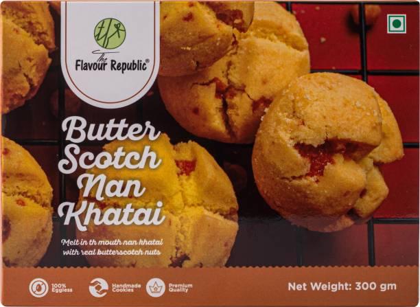 The Flavour Republic BUTTERSCOTCH NAN KHATAI - 600 gms(Combo Pack 2*300 gms) Pure Vegetarian PremiumNan Khatai Cookies