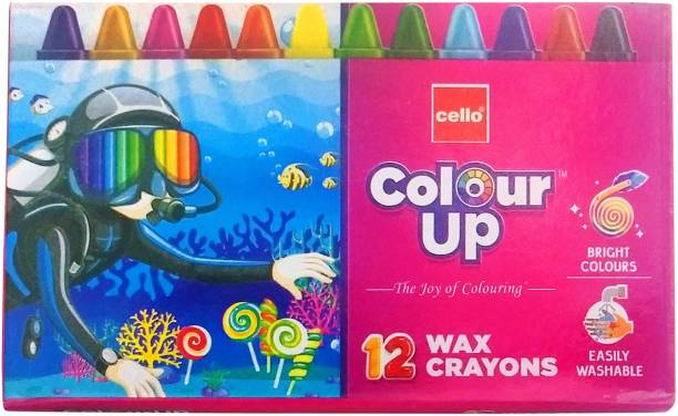 cello Colour Up 12 wax crayons